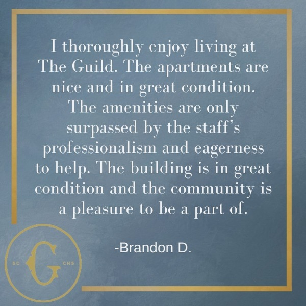 Visit us this weekend to see why our residents thoroughly enjoy living at The Guild.  . . .  #unlocktheguild #theguildchs #chs #greystar #historiccharleston #charlestonsc #charlestonlife #charlestonstyle #charlestonliving #charlestonlove #charlestondaily #charleston #chucktown #takemetochs #CHSforlife #kingstreetcharleston #apartments #apartmentsforrent #apartmentliving #apartmentgoals #apartmenthunting #apartmentlife #apartmentshopping #apartmentdesign #lovewhereyoulive #apartmentdecor #greystar #southeastbeasts #rooftoppool #residentreview